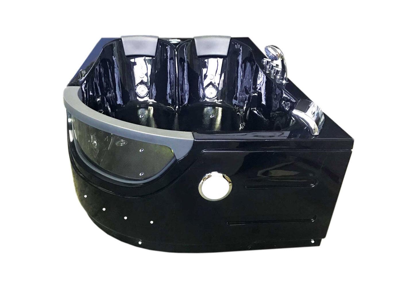 Whirlpool Bathtub Black 71 6 X 48 Hot Tub Double Pump Orion