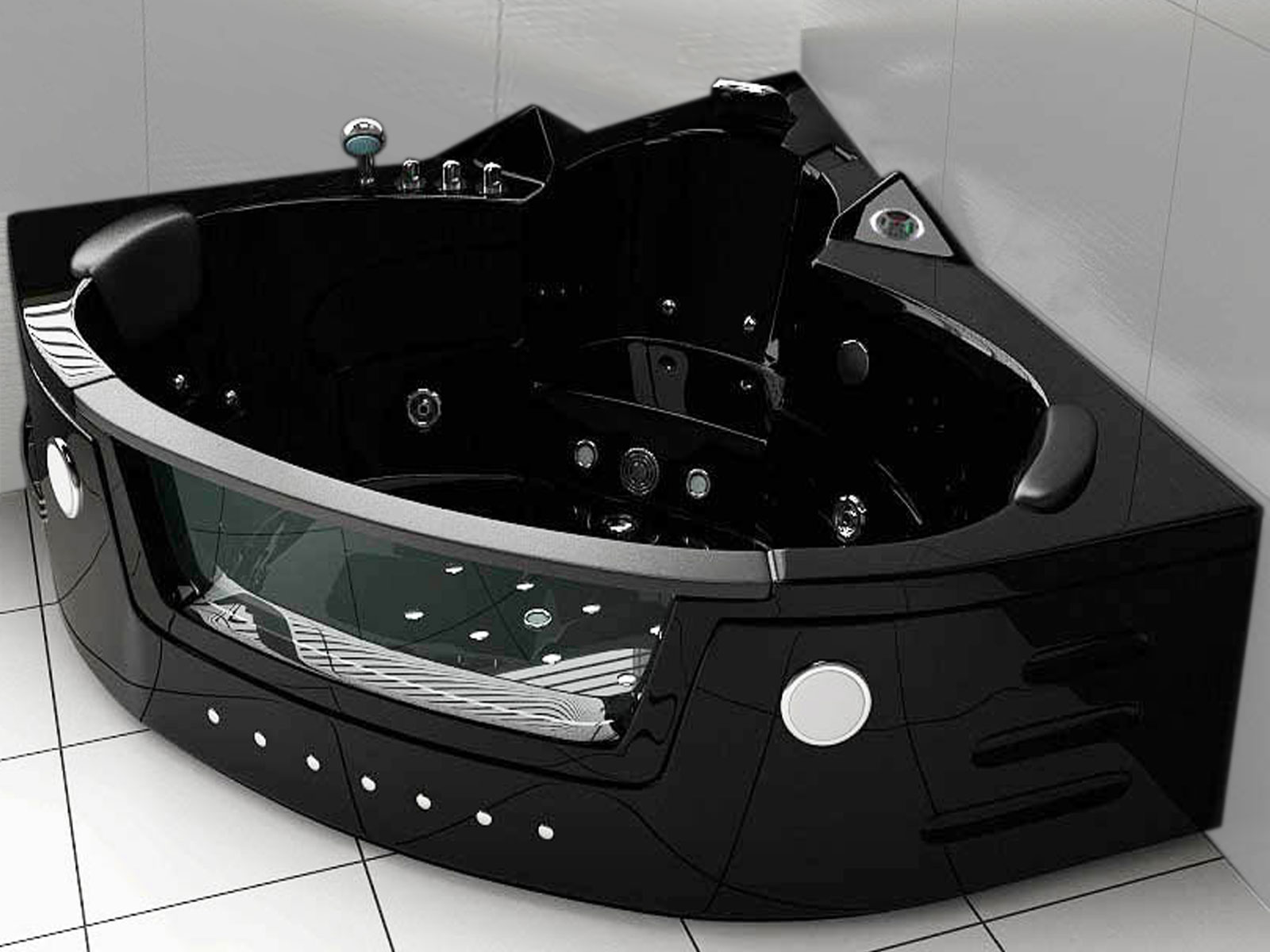MAJESTIC - Whirpool Bathtub hot tub Black - SimbashoppingUSA