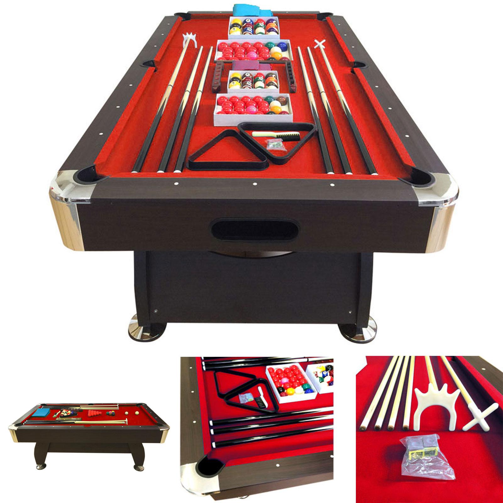 ... POOL TABLE 8u0027 FEET   VINTAGE RED ...