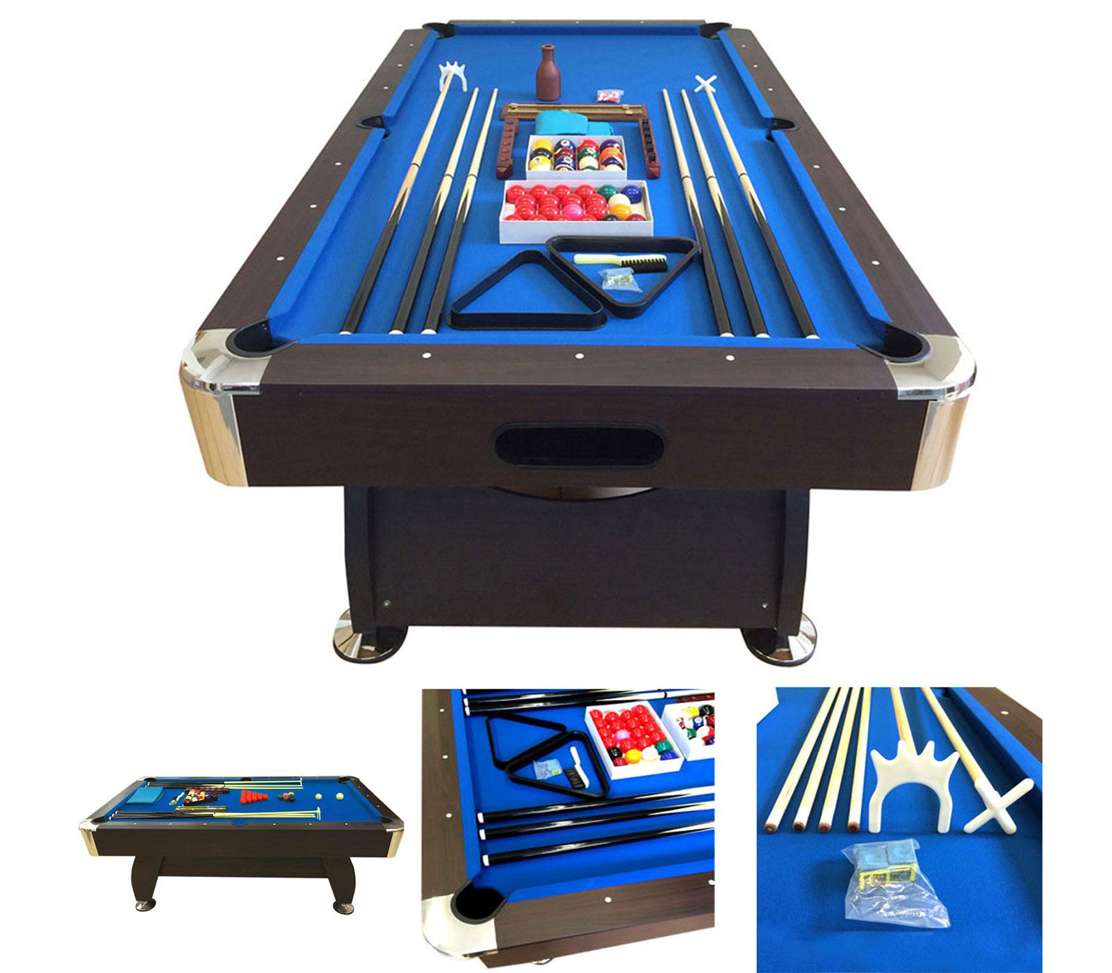 POOL-TABLE-8FT-VINTAGE-BLUE