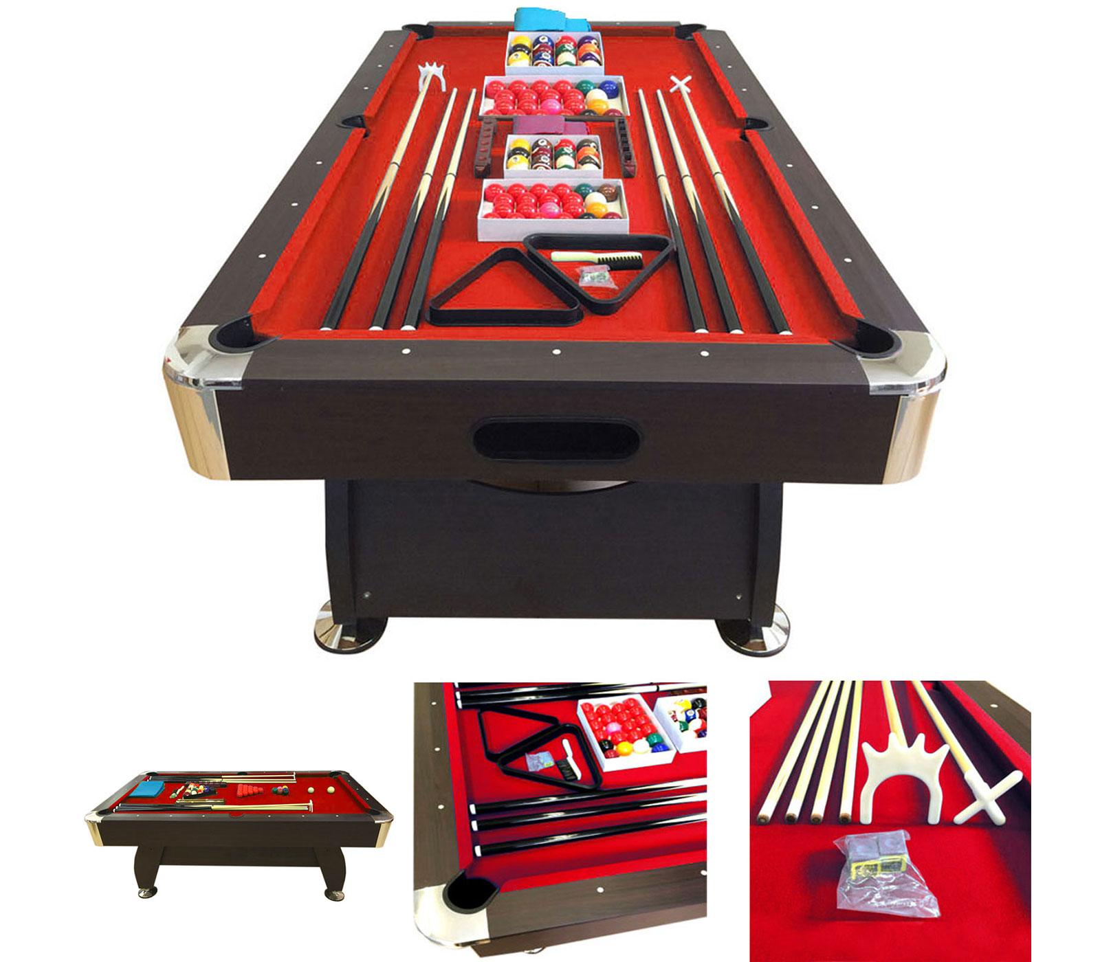 POOL-TABLE-8FT-VINTAGE-RED