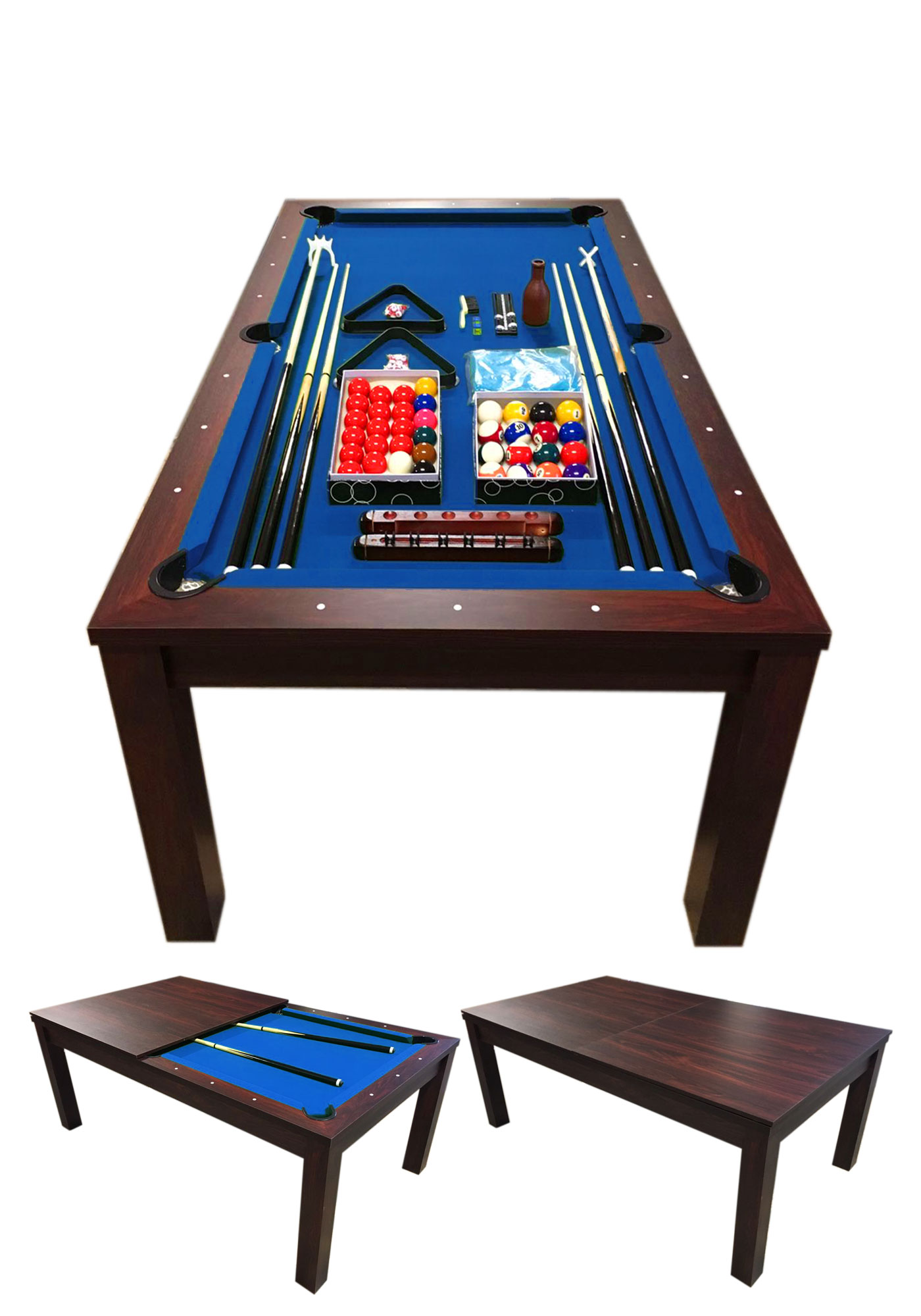 POOL TABLE 7′ FEET Blue-Sky-senzalogo